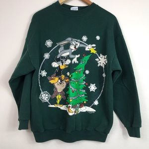 Ugly Christmas sweater looney tunes